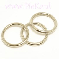 Metallook Ring Zilver 18 mm