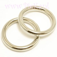 Metallook Ring Zilver 25 mm